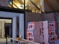 Noch ist im Buero/Gästezimmer (oben) ein Loch - Sicht aus dem Wohnzimmer