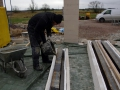 Konstruktionsoverkill: eine viertel Tonne Stahl und noch viel mehr Beton!