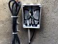 Fachgerechter Elektroanschluss an der Brunneninnenwand