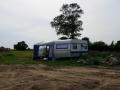 Die neue Campingmöglichkeit von unserer Einfahrt aus gesehen