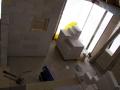 """Blick ins Bad - noch ist ein """"Fenster"""" in der Duschwand"""