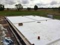 Hausfläche und Gräben fuer die Wandverstärkungen
