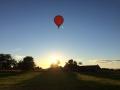 Ein Heissluftballon veschönert den Sommerabend