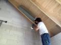 Ventilationsschalldämpfer - verschwindet nachher in der Dachisolierung